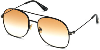 Tom Ford Delilah Metal Aviator Sunglasses