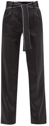 Adriana Iglesias Lauren Silk-satin Trousers - Black White