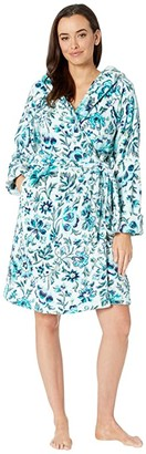Vera Bradley Lightweight Fleece Robe (Cloud Floral) Women's Robe