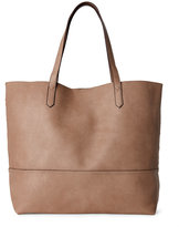Street Level Taupe Basic Tote w/ Zip Pouch