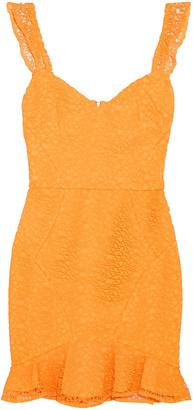 Rebecca Vallance Baha Ruffle-trimmed Lace Mini Dress