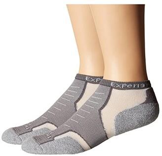 Thorlos Experia Low Cut Single Pair (White/Black) No Show Socks Shoes