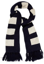 Emporio Armani Wool Patterned Scarf