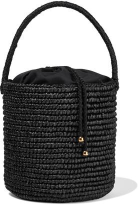 Sensi Woven Toquilla Straw Bucket Bag