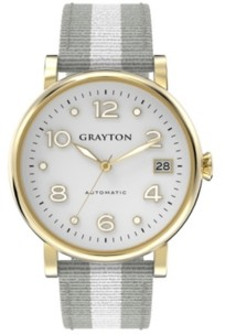 Grayton Women's Classic Collection White 2 Colors Fabric Strap Watch 36mm