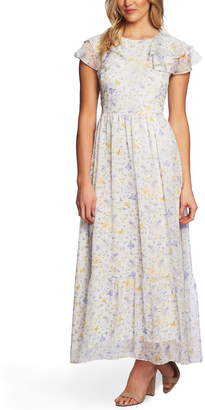 Cynthia Steffe Cece By Provence Floral Ruffle Hem Maxi Dress