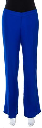 Gucci Cobalt Blue Silk Cady Flared Trousers M