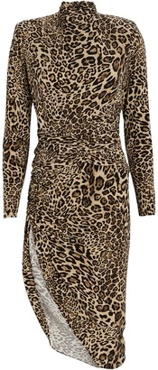Ronny Kobo Bruna Leopard Jersey Midi Dress