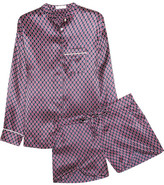 Olivia von Halle - Vita Zayna Printed Silk-satin Pajama Set - Grape