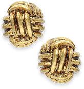 Lauren Ralph Lauren Gold-Tone Monkey Fist Knot Stud Earrings