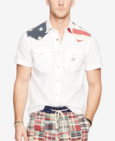 Denim & Supply Ralph Lauren Men's American Flag Yoke Western Shirt