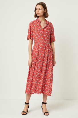 French Connection Cerisier Floral Short Sleeve Shirt Dress