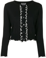 Moschino frill button placket cardigan - women - Virgin Wool - 38