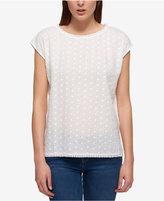 Tommy Hilfiger Cotton Eyelet-Embroidered Top, Only at Macy's
