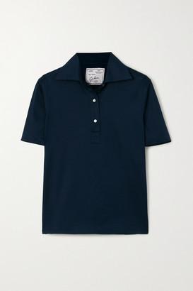 Giuliva Heritage Collection Daphne Cotton-pique Polo Shirt - Navy