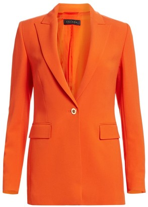 Escada Begask One Button Crepe Jacket