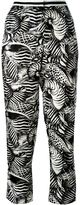 Moncler shell print trousers - women - Silk - 40