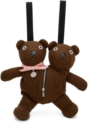 Marc Jacobs Brown Heaven by Double-Headed Teddy Backpack