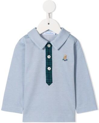 Familiar Long-Sleeved Polo Shirt