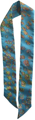 Hermes Twilly 86 Turquoise Silk Scarves