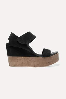 Pedro Garcia Daire Suede Platform Sandals - Black