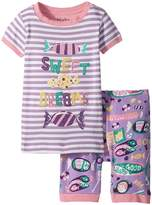 Hatley Kitty Candy Short Pajama Set Girl's Pajama Sets