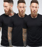 BOSS Black By Hugo Crew T-Shirt 3 Pack In Regular Fit Black