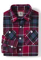 Classic Little Boys Flannel Shirt-Deep Scarlet Plaid