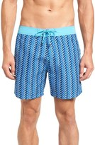 Mr.Swim Men's Zigzag Print Swim Trunks