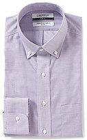 Daniel Cremieux Non-Iron Slim-Fit Button-Down Collar Textured Dress Shirt