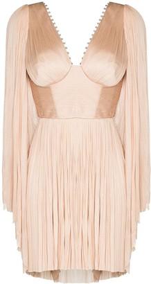 Maria Lucia Hohan Alma Crystal pleated mini dress