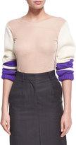 Calvin Klein Jersey Top w/Knit Sleeves