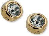 T Tahari Earrings, Gold-Tone Signature Stud Earrings