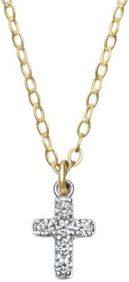 Ila Lois 14K Yellow Gold & Diamond Cross Necklace
