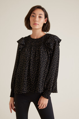 Seed Heritage Soft Spot Frill Top