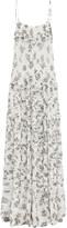Lee Mathews MATHEWS Lucy Printed Crinkled Silk Maxi Dress