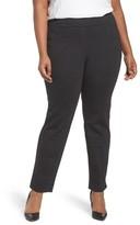 Sejour Plus Size Women's Crosshatch Stretch Ankle Pants