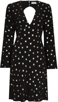 Rixo Sophie star-print short dress