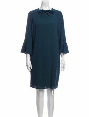 Hermes 1970's Knee-Length Dress Wool