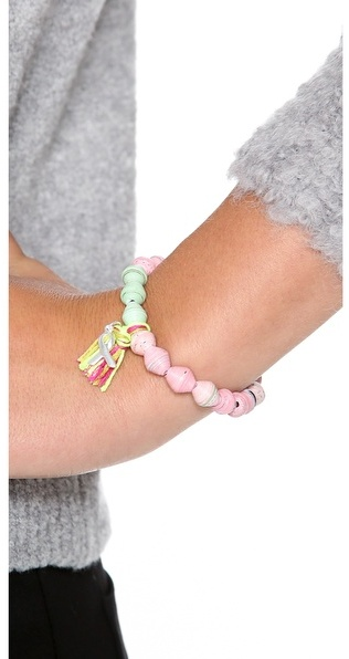 Chan Luu Breast Cancer Awareness Stretch Bracelet