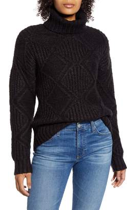 Caslon Chunky Cable Knit Turtleneck Sweater
