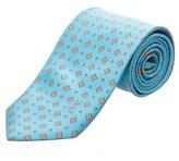 Saint Laurent Light Blue Silk Tie.