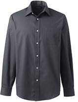 Lands' End Men's Big Tonal Stripe Dress Shirt-True Blue Tonal Stripe
