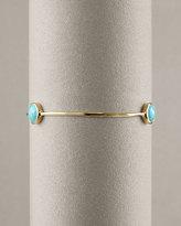 Three-Stone Turquoise Bangle