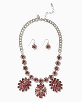 Charming charlie Triple Blossom Statement Necklace