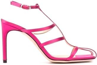 Giannico Satin Cage Sandals