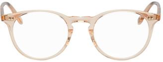 Garrett Leight Pink Transparent Winward Glasses