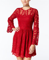 American Rag Embroidered Lace Fit & Flare Dress, Only at Macy's