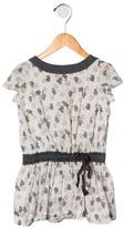 Bonpoint Girls' Short Sleeve Printed Dress