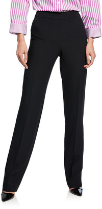 Emporio Armani Basic Straight-Leg Stretch Wool Pants
